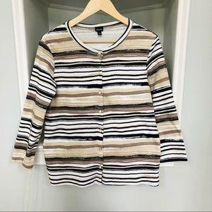 🔥3/$20🔥Rafaella cardigan size L